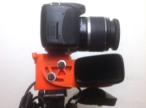 Kinect + DSLR 3D printable mount